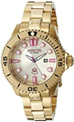 Invicta Women's 19821 Pro Diver Analog Display Swiss Quartz Gold Watch