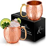 KoolBrew Moscow Mule Copper Mugs Gift Se