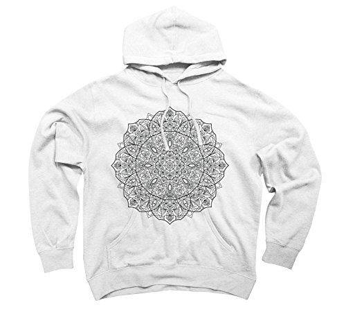 slappa-da-bass-man-dala-black-and-mens-2x-large-white-graphic-pullover-hoodie