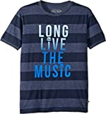 Lucky Brand Kids Boy's Short Sleeve Graphic Tee (Big Kids) Peacoat Large