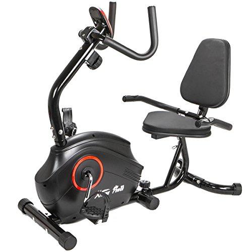 XtremepowerUS Recumbent Fitness Exercise Bike Magnetic High Capacity Deluxe