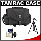 Tamrac 5606 System 6 Pro Digital SLR Camera Bag (Black) with Tripod + Accessory Kit for Canon EOS 70D, 6D, 5D Mark III, Rebel T3, T5i, SL1, Nikon D3100, D3200, D5200, D7100, D600, D800, Sony Alpha A65, A77, A99, Best Gadgets