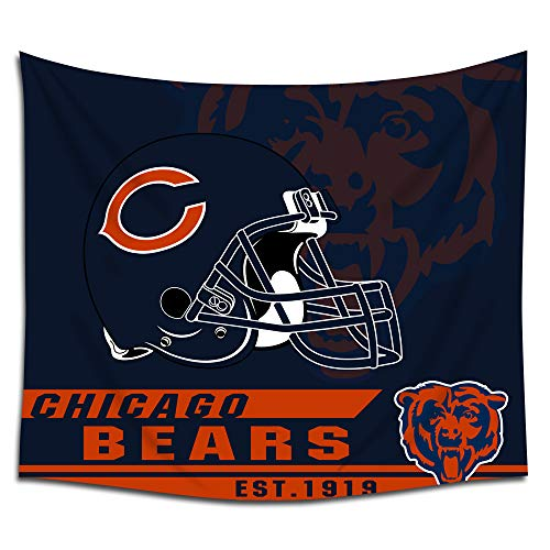 - Jacoci Chicago Bears Wall Tapestry Hanging Cool Design for Bedroom Living Room Dorm Handicrafts Curtain Home Decor Size 50x60 Inches