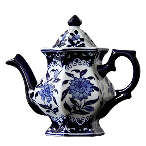 (Coffee Pot Tea Pot Coffee Kettle Espresso Coffee Maker Coffee Machine French Coffee Press Insulation Pot Manual Ceramics Blue and White Porcelain GAOFENG (Color : A))