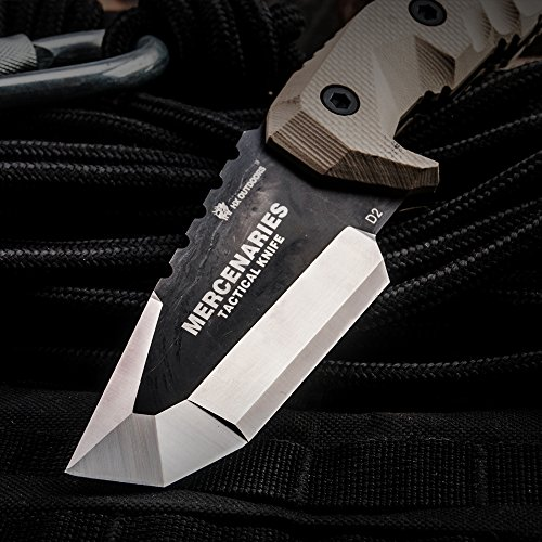 MERCENARIES Special forces tactical knife outdoor hunting camping Army Knives military tactical knife Fixed Blade by HX outdoors (Image #1)