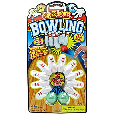 Finger Bowling Game Portable Pocket Board Games Mini (Pack of 1) by JARU. Assortment of Classic Toys Party Favors Toy| Item #217-1A: Toys & Games