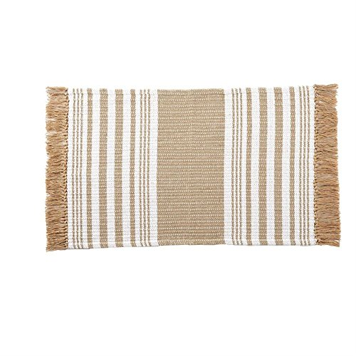 Jute Throw (Mud Pie Jute Stripe Throw Rug 23 1/2