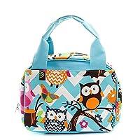 Bolsa de almuerzo con aislamiento para mujeres y niños N. Gil (Owl Aqua /Aqua)