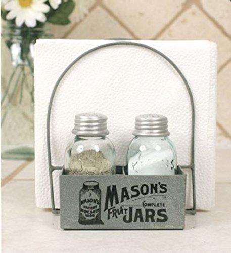 (Mason's Jars Box Salt Pepper and Napkin Caddy)