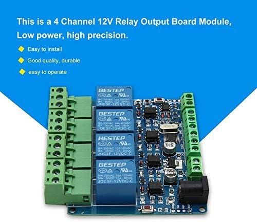 TTL ingresso modulo interruttore scheda rel/è uscita 12 canali Modbus RTU 4 canali 12V verde Modulo di comunicazione RS485