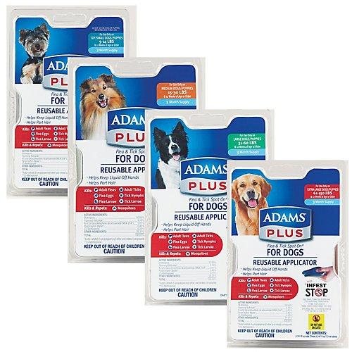 Adams Plus Flea/Tick Spot-On for Dogs 3PK Medium