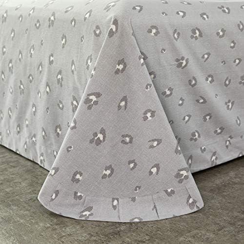 カバーセットエコ綿状に4点セットシルクComforte、1キルトカバー+ベッドシーツ2つの枕カバー+フェザーファブリック/キルト軽量ソフト低刺激性を含めます