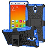 [SCIMIN]Xiaomi Mi 4 Case, Mi 4 Cover, Heavy Duty Dual Layer Protection / Shockproof / Drop Resistance Hybrid Rugged Case Cover with Kickstand for Xiaomi Mi 4 (Navy Blue)