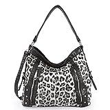 Angelkiss Leopard Pattern Handbags Two Top Zippers Shoulder Handbags 2018