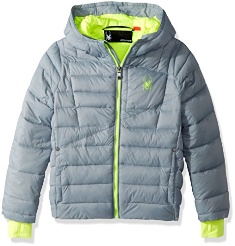 Spyder Big Boys' Upside Down Jacket, Steel, L