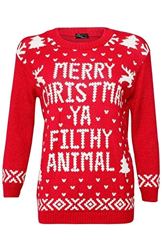 RENNES FEMME RUDOLF Animal NO L TRICOT Filthy Red PULL nWgnxPcF
