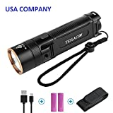 Best Flashlights With Waterproof Selfs - TESLACOM Rechargeable Flashlight Tactical Super Bright 1200lumens Cree Review