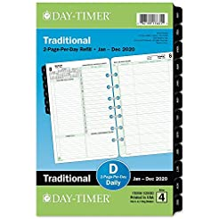 Day-Timer 2020 Daily Planner Refill, 5-1...