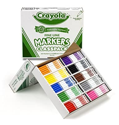 Crayola 200ct Classpack Fine Markers (Barrel Color May Vary)