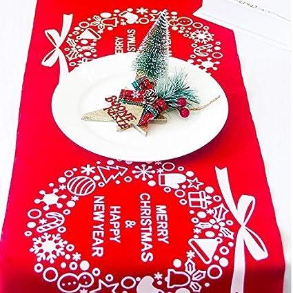 NXET Weihnachten Camino de Mesa, Rojas Christmas Corona Mantel 11 x 106 Inch