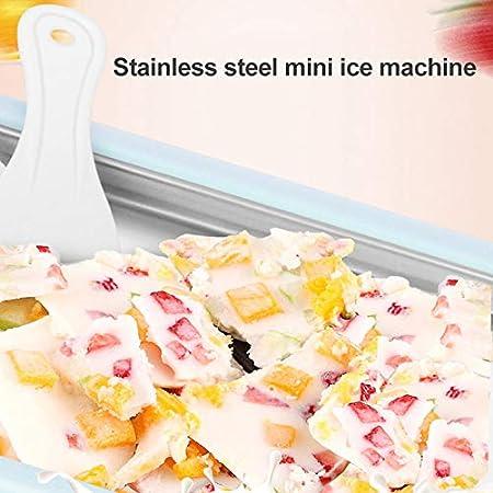 Asseny Instant Ice Cream Maker Yogurt Sorbet Gelato Ice Roll DIY Maker Pan for Kids
