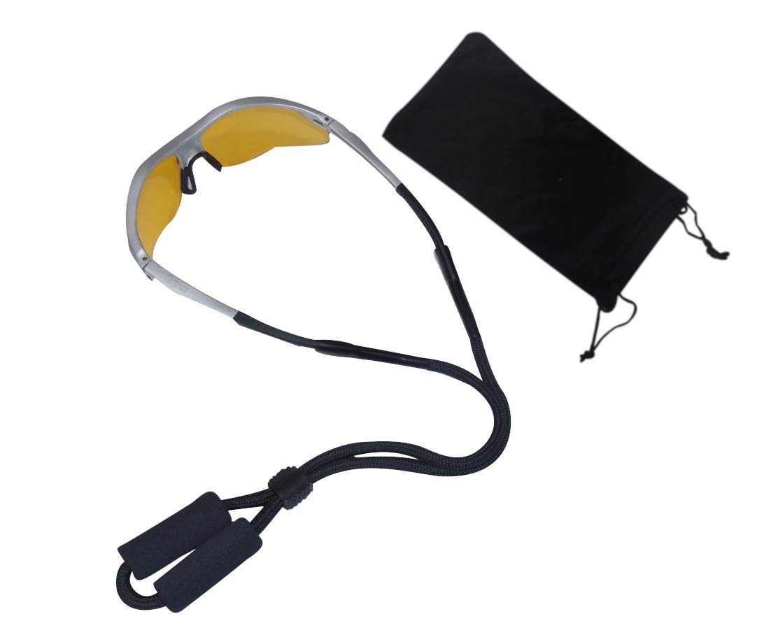 HTwo Floating Sunglasses Strap - Floating Sunglass Straps Premium Safety Lanyard Retainer for Watersports Eyewear with Case