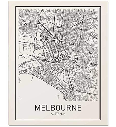 Melbourne Poster, Melbourne Map, Map of Melbourne, Melbourne Map Print, Melbourne Map Art, Modern Map Art, Black and White Map, Map Wall Art, City Map Posters, Australia Poster, Minimalist Print, ()