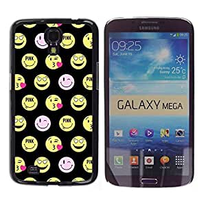 Impact Case Cover with Art Pattern Designs FOR Samsung Galaxy Mega 6.3 Happy Smiley Face Funny Emoticon Betty shop