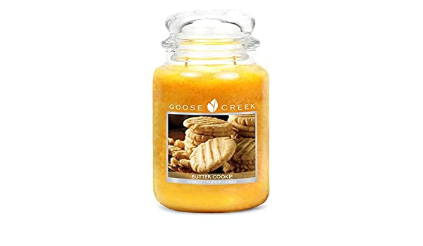 Goose Creek Vela Tarro de Galletas de Mantequilla, Cera, Canela, 24 oz: Amazon.es: Hogar