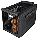 Cheap Petsfit Black Polyester Crate Cover for 30 Inches Wire Crates,Size 3000,One Door
