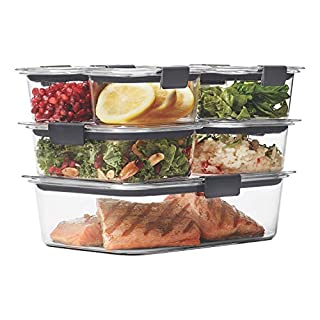 Rubbermaid Brilliance Food Storage Container, 14-Piece Set, 100% Leak-Proof, Plastic, Clear (B01JCNETC0) | Amazon price tracker / tracking, Amazon price history charts, Amazon price watches, Amazon price drop alerts