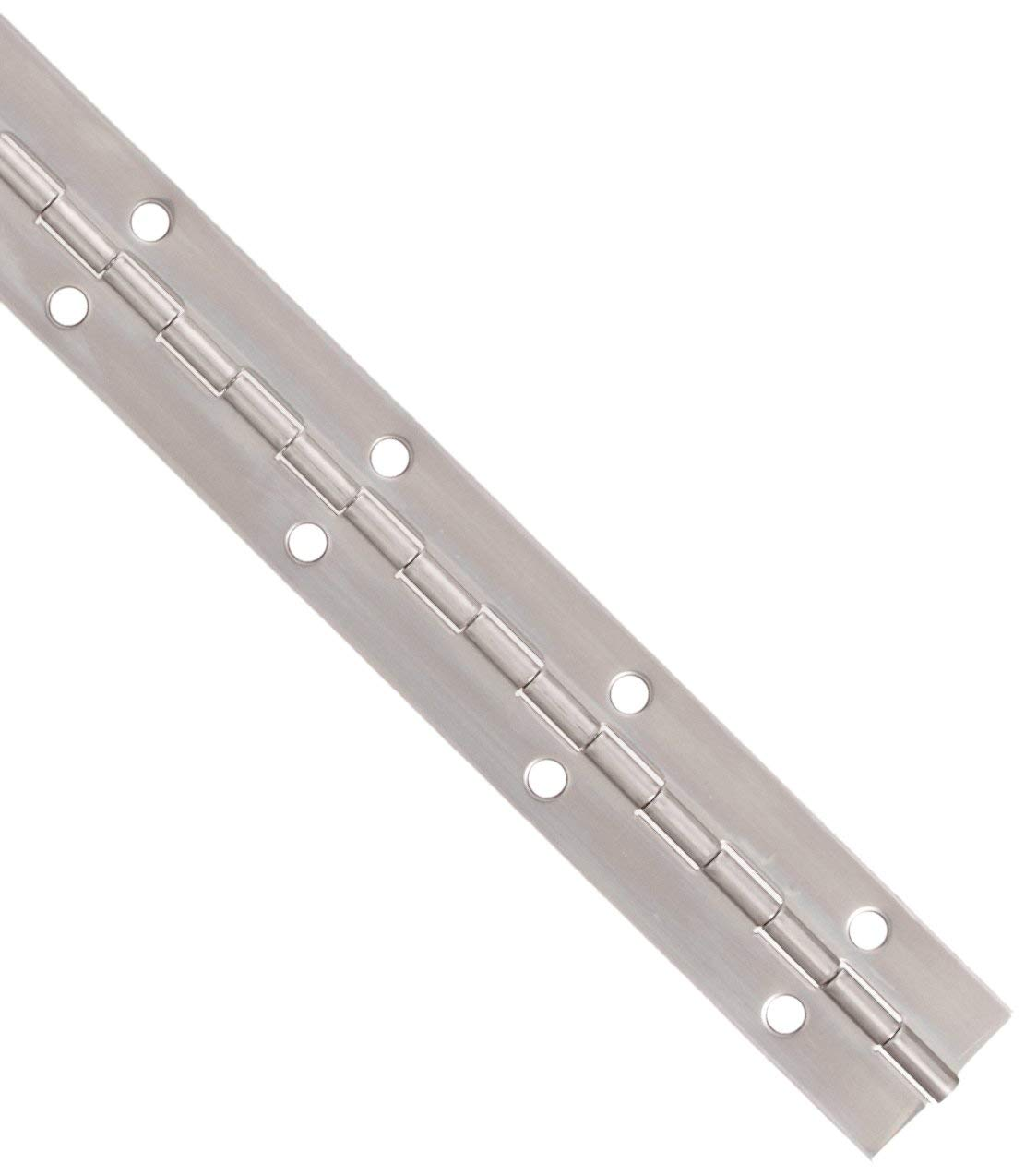 Stainless Steel Continuous Hinge with Hole Bright Annealed Finish 4 Feet, 2 Inches