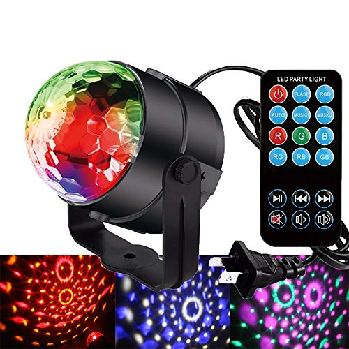 Decoration Exterieur Pour Halloween (QJJML Party Lights Stage Lights,Mini Effect Projector Stage Light Bulbs, Disco Mirror Ball Stage Lighting, for Stage, Disco, DJ, Party, Bar KTV)