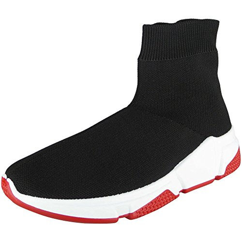 8 On Sock Sizes Sports red Pumps 3 Shoes Trainers Black Look Fitness Womens Ladies Running Gym Loud Slip 1qRvwSBZP