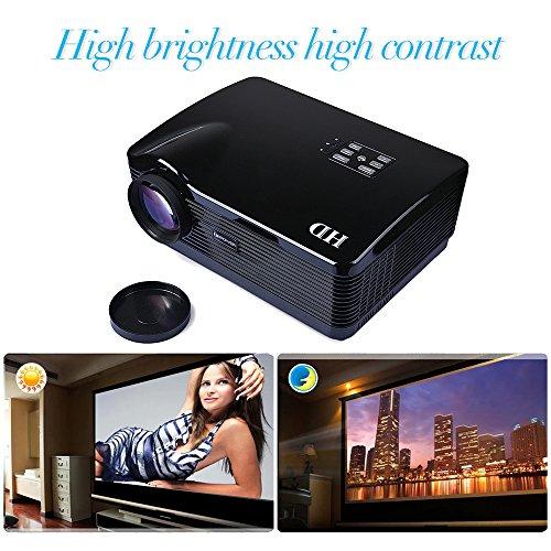 3*HDMI USB 3D LED Multimedia HD 3000 lumen Projector 1080P Native 1280*768 Contrast Ratio 2000: 1
