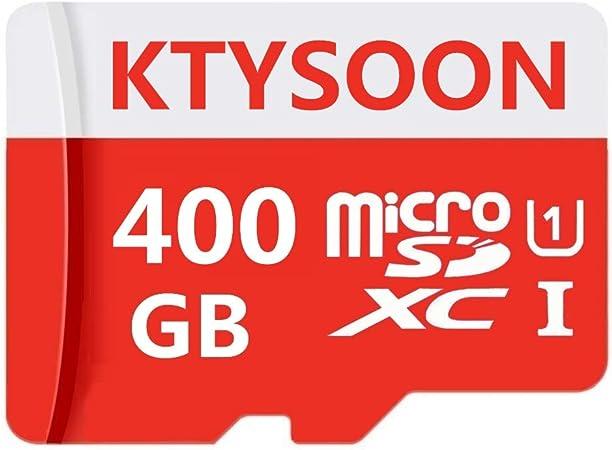 clase 10 SDXC de alta velocidad con adaptador SD gratuito dise/ñada para tel/éfonos inteligentes Android tabletas y otros dispositivos compatibles Tarjeta Micro SD de 400 GB 400 GB-B