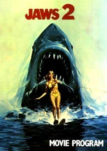 Jaws 2 1978 original movie program - NOT A DVD