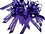 50 Personalized Ribbons for Bridal Shower Wedding Party Favors or Baby Showers - Custom Made Pack of Cut Ribbons