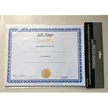 amazoncom all star certificate of achievement blank