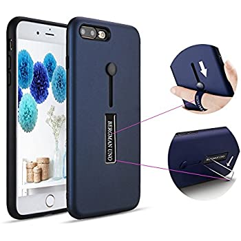 new product 7bf2b d7fa3 Bergman Uno Dual Pro Case Suitable for Phone 7 Plus/iPhone 8/Finger Strap  Case/Finger Ring Band with Kickstand Case/Rugged Case/Dual Layer Finger  Ring ...