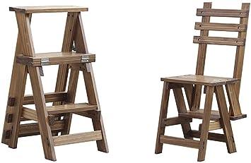 GOG Fácil y cómodo taburete plegable Paso, plegable Escalera de madera maciza Ensanchamiento plegable Escalera Escalera Estantería Silla con 3 Pasos para jardín Oficina Cocina Biblioteca, taburete co: Amazon.es: Bricolaje y herramientas
