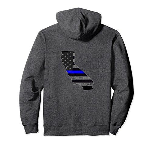 (Unisex California Police Officer's Department Hoodie Policemen Medium Dark)