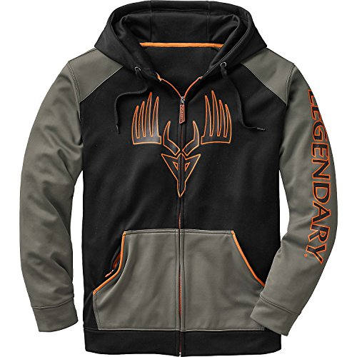 Legendary Whitetails Mens Broadhead Monster Hoodie Black X-Large Tall