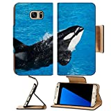 Liili Premium Samsung Galaxy S7 Edge Flip Pu Leather Wallet Case Killer whale performing in marine park show IMAGE ID 13955702 offers