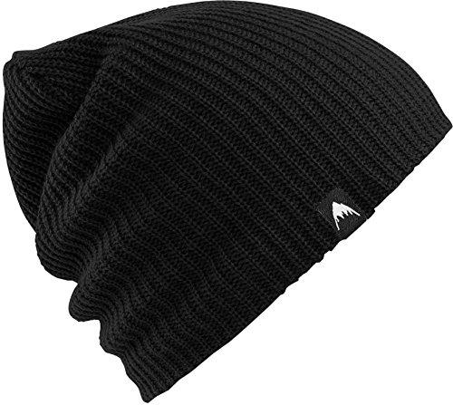 Burton Black Hat - Burton Unisex All day Long Beanie, True Black, One Size