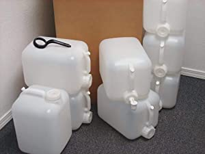 5 Gallon Carboy, 8-Pack (40 Gallons), Emergency Water Storage Kit - New - Clean - Boxed - Includes one Spigot & Cap Wrench