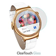 Huawei Watch Elegant Screen Protector, BoxWave® [ClearTouch Glass] 9H Tempered Glass Screen Protection for Huawei Watch Elegant, Jewel