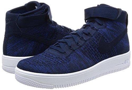 Nike Air Force 1Ultra Flyknit Sneaker Scarpe per Uomo Dunkelblau (College Navy/Black/White)