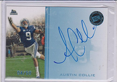 2009 Press Pass Austin Collie Brigham Young Autographed Insert Card