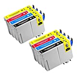 Karl Aiken Remanufactured Replacement for Epson T124 4-Set Ink Cartridges: 2 each of Black T124120 / Cyan T124220 / Magenta T124320 / Yellow T124420